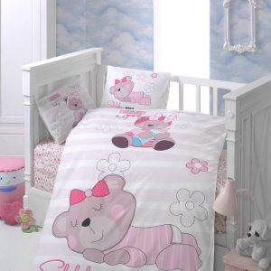 Бебешки спален комплект от 100% памучен ранфорс 056