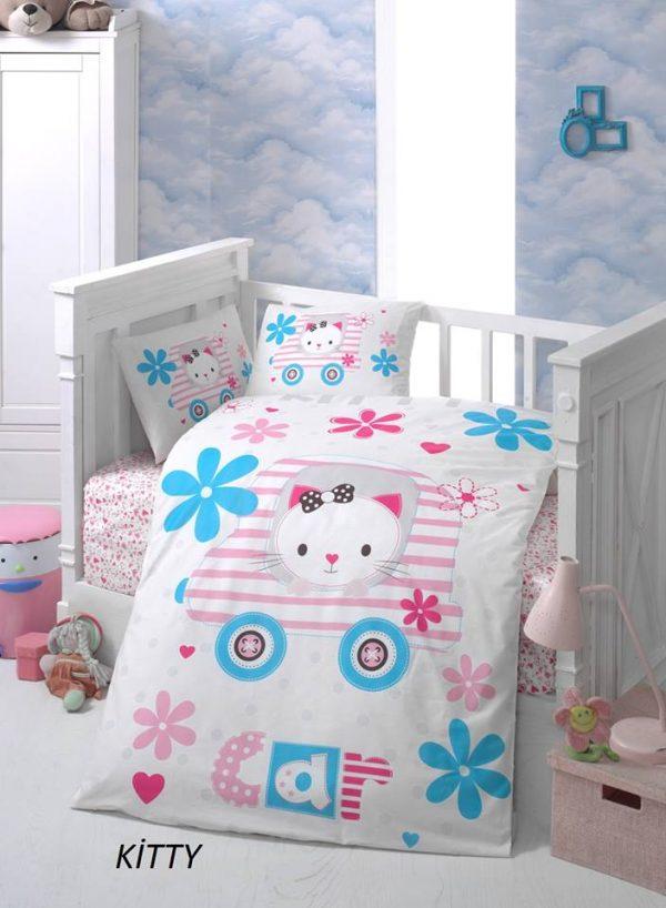 Бебешки спален комплект от 100% памучен ранфорс 059