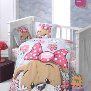 Бебешки спален комплект от 100% памучен ранфорс 062
