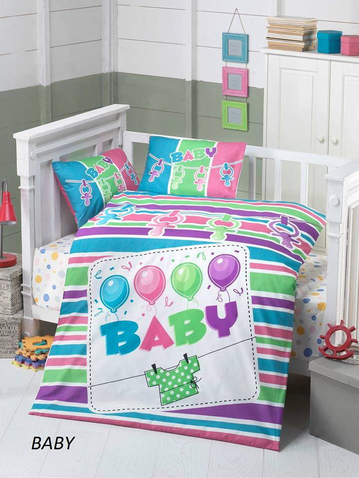 Бебешки спален комплект от 100% памучен ранфорс 064