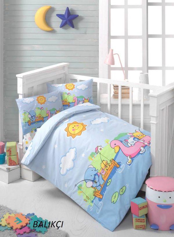 Бебешки спален комплект от 100% памучен ранфорс 065