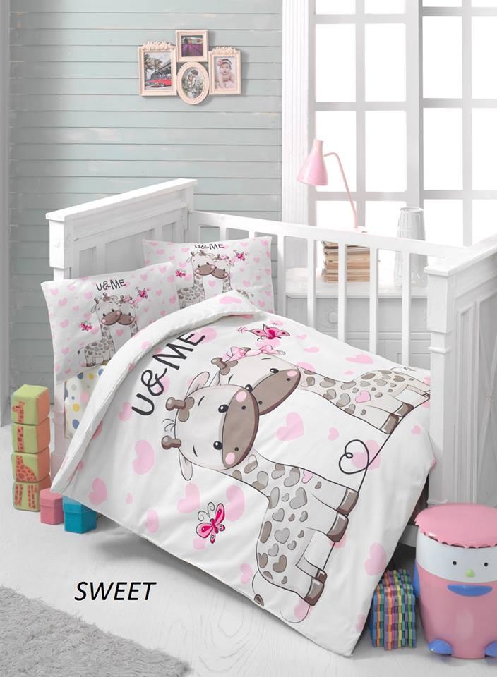 Бебешки спален комплект от 100% памучен ранфорс 067
