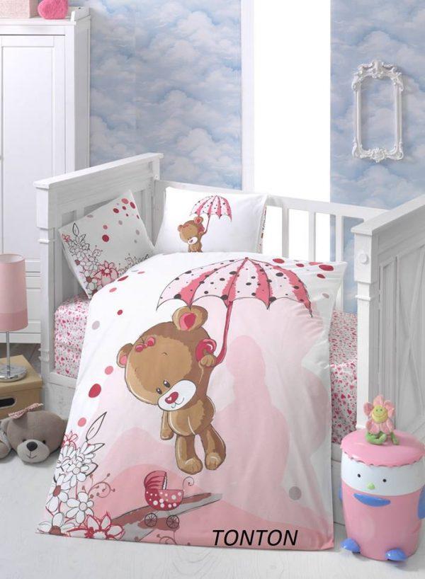 Бебешки спален комплект от 100% памучен ранфорс 069
