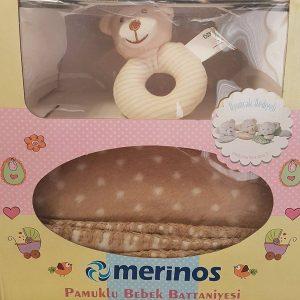 Бебешкo одеяло и подарък играчка 063