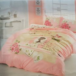 Единичен Спален комплект от 100% памучен ранфорс 005