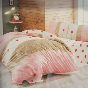 Единичен Спален комплект от 100% памучен ранфорс 007