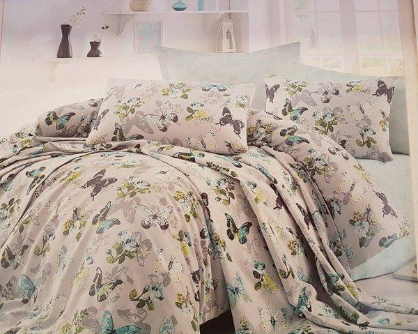 Единичен Спален комплект от 100% памучен ранфорс 009