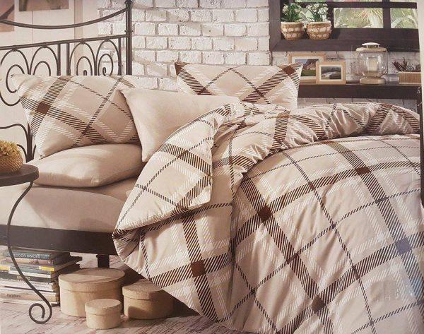 Единичен Спален комплект от 100% памучен ранфорс 015