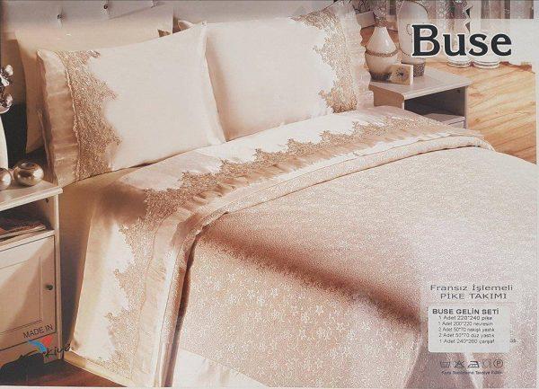 Луксозен Двоен Спален комплект от 100% Памучен сатен бродерия 051