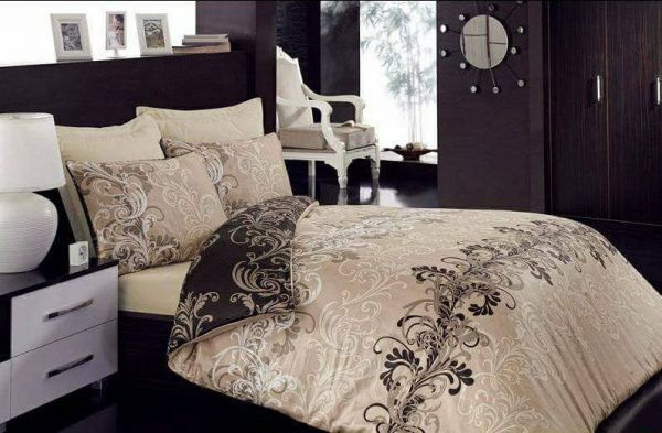Луксозен Двоен Спален комплект от 100% Сатениран памук 039