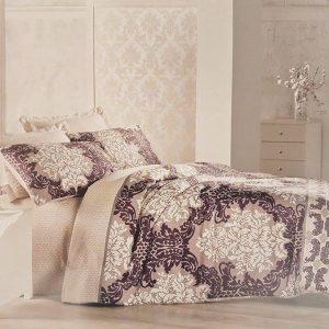 Луксозен Двоен Спален комплект от 100% Сатениран памук 041