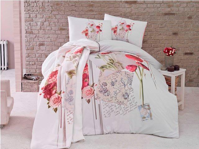 Луксозен Двоен Спален комплект от 100% Сатениран памук 045