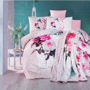 Луксозен Двоен Спален комплект от 100% Сатениран памук 047