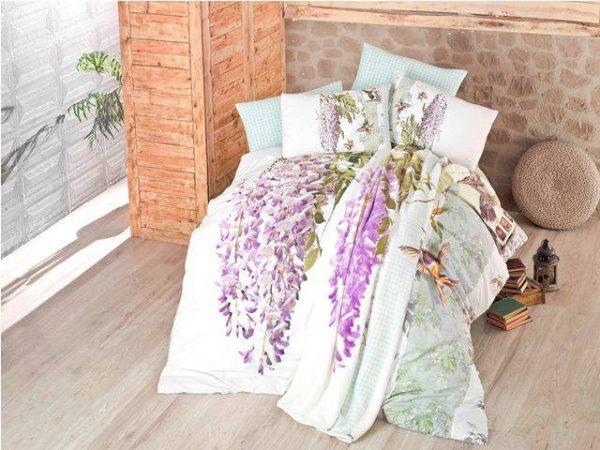 Луксозен Двоен Спален комплект от 100% Сатениран памук 048