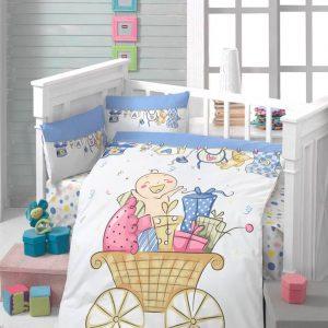Бебешки спален комплект от 100% памучен ранфорс 166