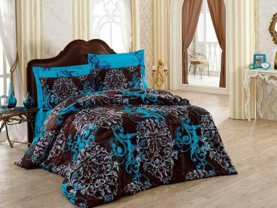 Луксозен Двоен Спален комплект от 100% Сатениран памук 151
