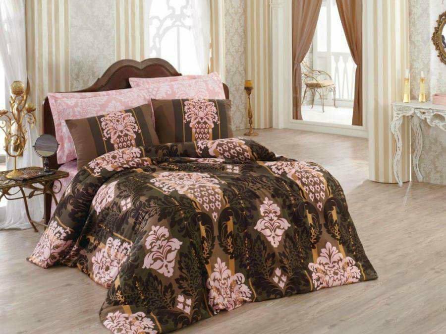 Луксозен Двоен Спален комплект от 100% Сатениран памук 152