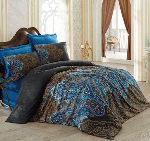 Луксозен Двоен Спален комплект от 100% Сатениран памук 153