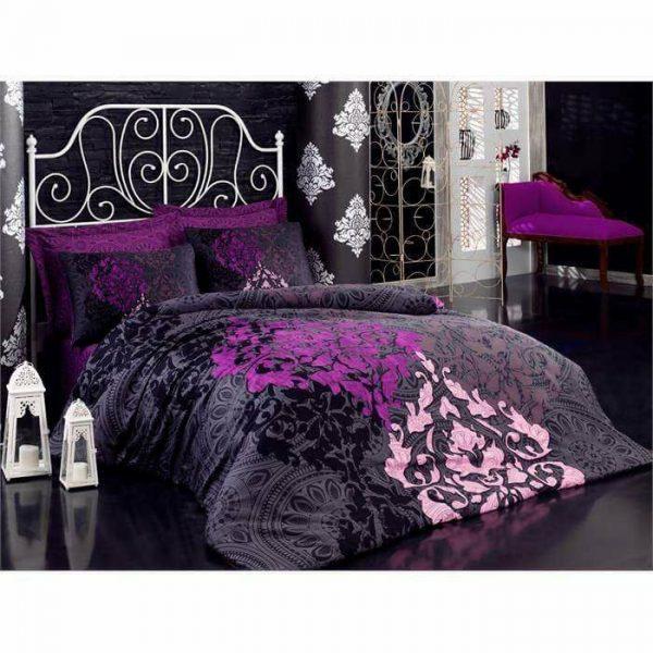 Луксозен Двоен Спален комплект от 100% Сатениран памук 154