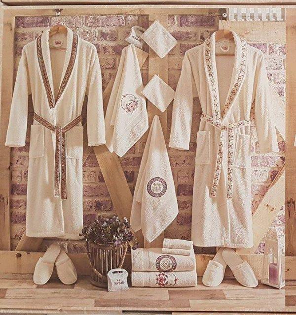 Луксозен семеен комплект за баня от 100% памук 113