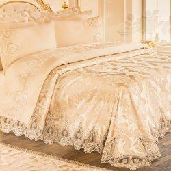 Луксозен Двоен Спален комплект от 100% Памучен сатен и Френска бродерия 187