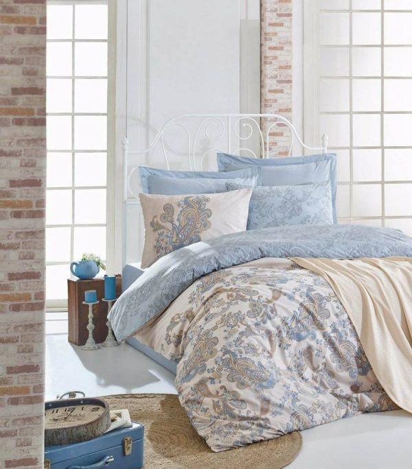 Двоен Спален комплект от 100% памучен ранфорс + Одеяло 193