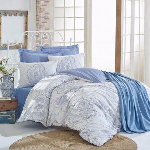 Двоен Спален комплект от 100% памучен ранфорс + Одеяло 196