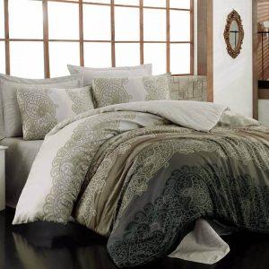 Двоен Спален комплект от Сатениран памук 207
