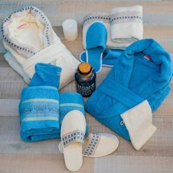 Луксозен семеен комплект за баня от 100% памук 226