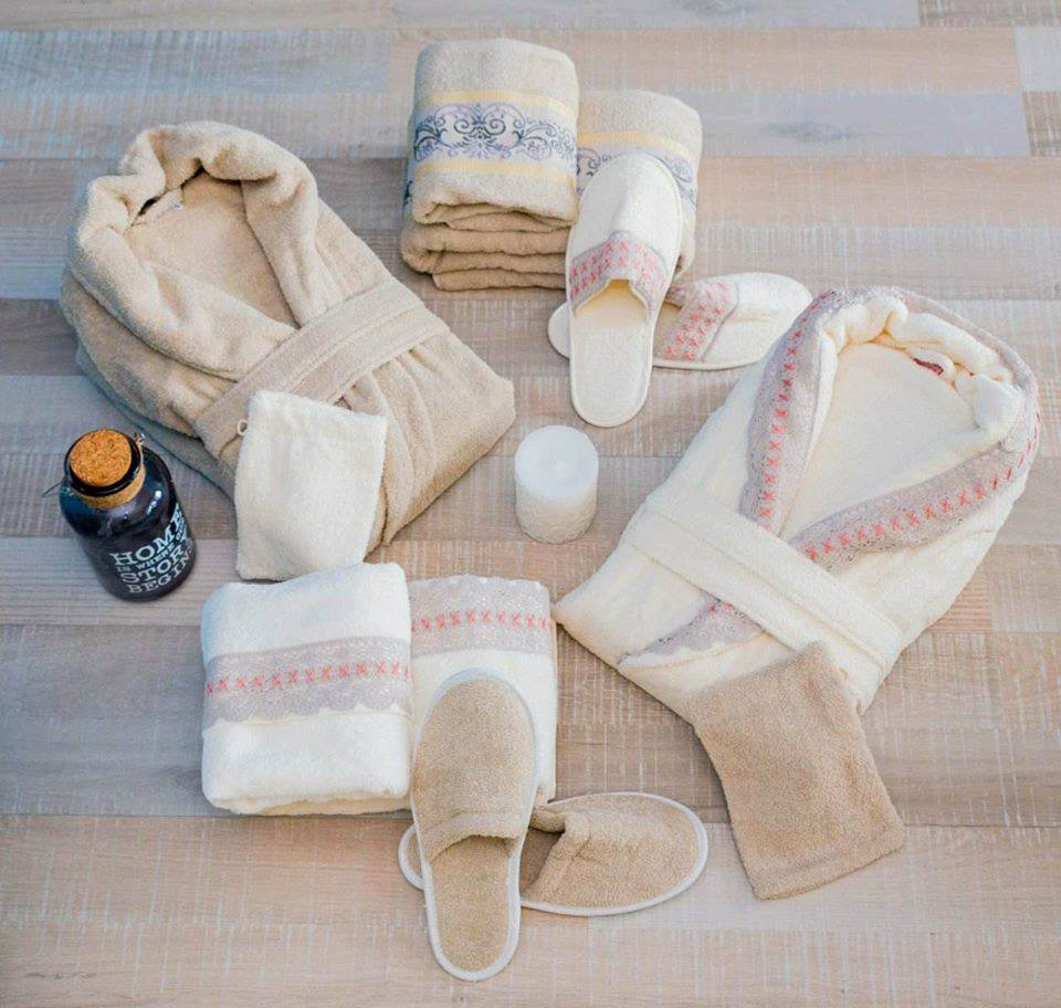 Луксозен семеен комплект за баня от 100% памук 227