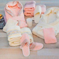 Луксозен семеен комплект за баня от 100% памук 232