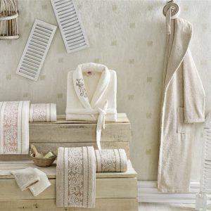 Луксозен семеен комплект за баня от 100% памук 217