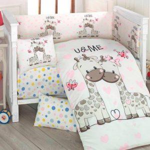 Бебешки спален комплект от 100% памучен ранфорс 261