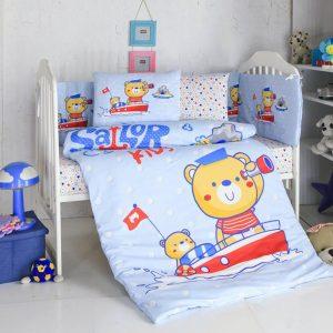 Бебешки спален комплект от 100% памучен ранфорс 262