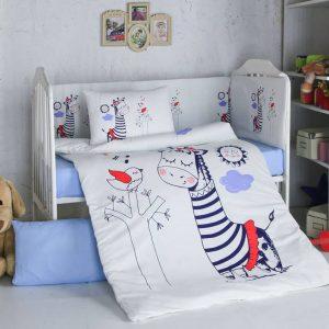 Бебешки спален комплект от 100% памучен ранфорс 263