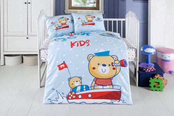 Висококачествен бебешки спален комплект от 100% памучен ранфорс 256