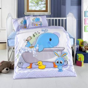 Висококачествен бебешки спален комплект от 100% памучен ранфорс 257