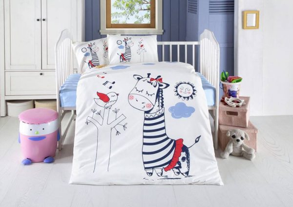 Висококачествен бебешки спален комплект от 100% памучен ранфорс 258