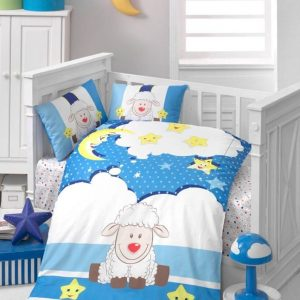 Висококачествен бебешки спален комплект от 100% памучен ранфорс 259