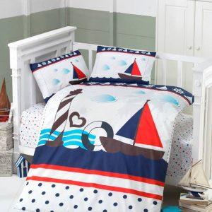 Висококачествен бебешки спален комплект от 100% памучен ранфорс 260