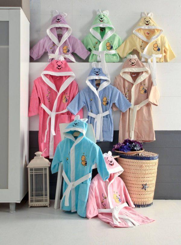 Висококачествени, цветни детски халати за баня от 100% памук 267