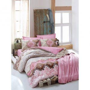 Двоен спален комплект от 100 % памучен ранфорс 292