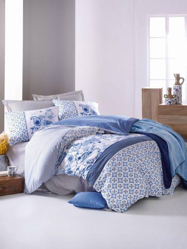 Двоен спален комплект от 100 % памучен ранфорс 293