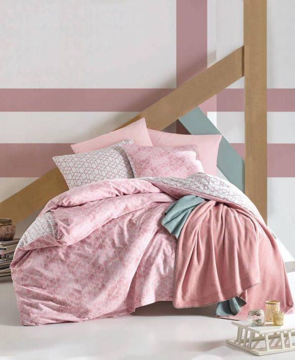Двоен спален комплект от 100% памучен ранфорс 295