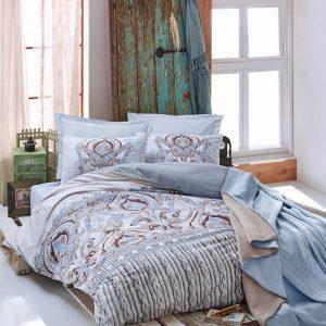 Двоен спален комплект от 100% памучен ранфорс 296