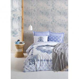 Двоен спален комплект от 100% памучен ранфорс 301