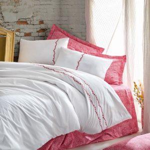 Двоен спален комплект от 100% памучен ранфорс 310