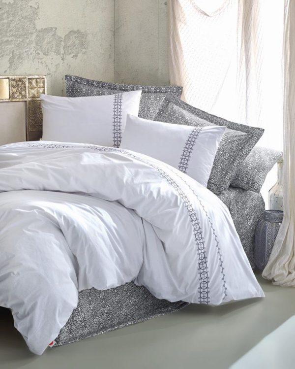 Двоен спален комплект от 100% памучен ранфорс 313