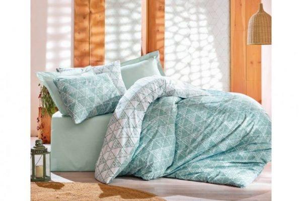 Двоен спален комплект от 100% памучен ранфорс 314