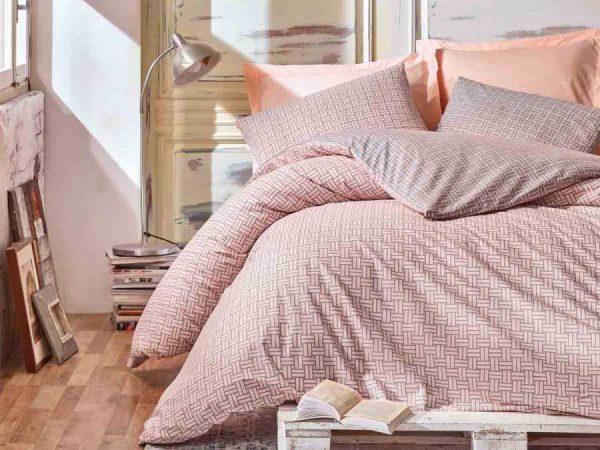 Двоен спален комплект от 100% памучен ранфорс 316